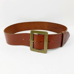 WCM Neiman Marcus thick brown leather belt